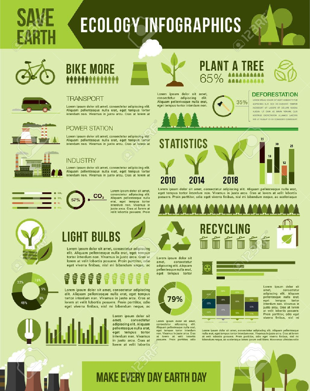 Nature Conservation Vector Infographics Template Infographic