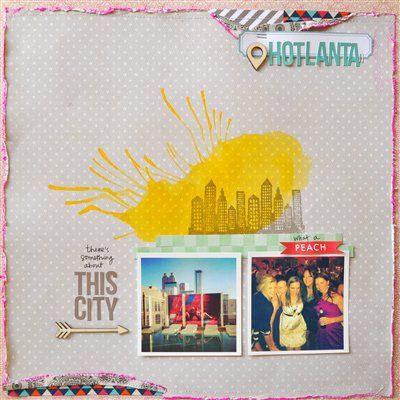 Hotlanta - Studio Calico Feb Kits - Club CK - The Online Community and Scrapbook Club from Creating Keepsakes