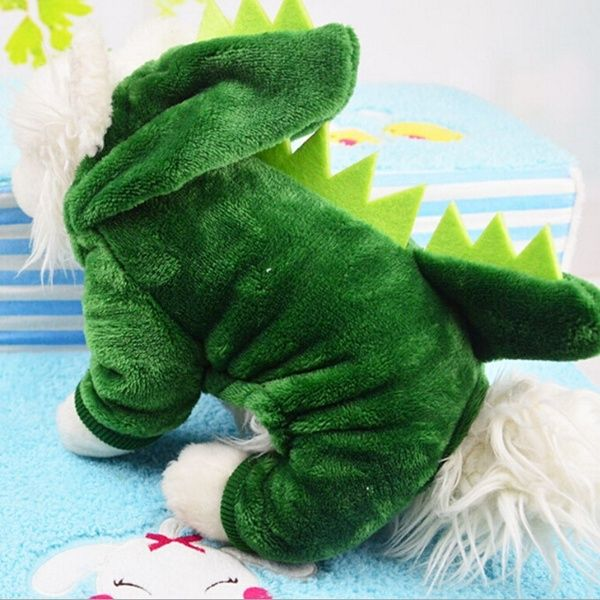 Dinosaur Change To Pet Clothes With Thick Warm Dog Clothes In 2019