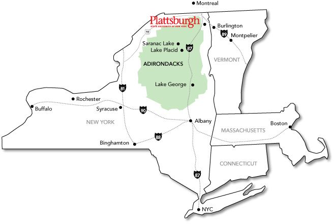 Plattsburgh My Colleges And Universities Pinterest Map Of