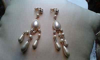 Carolee Lux Earrings Pearl Clips Http Designerjewelrygalleria