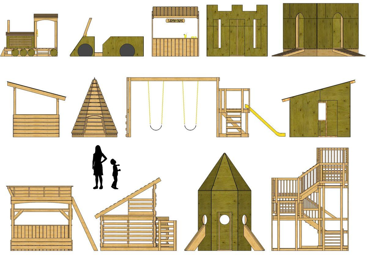 Free step by step playhouse and play structure plans