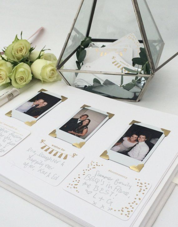 Personalised Ivory Wedding Guestbook