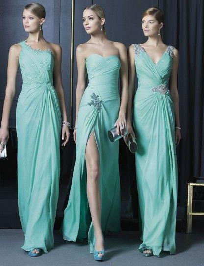 super popular 913ca ecc90 Two Fiesta abiti da sposa azzurro tiffany | Bridesmaids ...