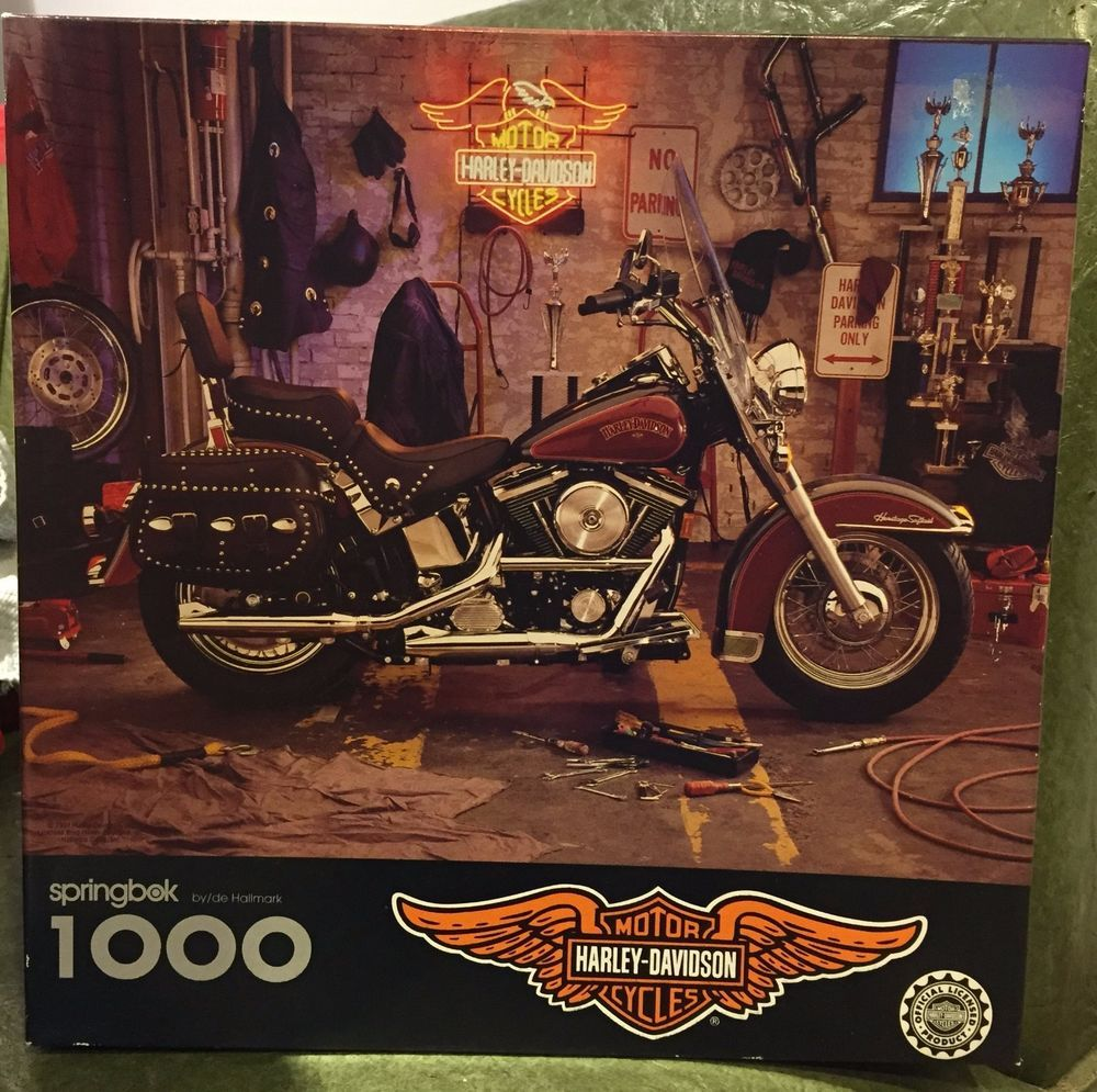 Details about Harley Davidson Motorcycle Logo 1000 Piece