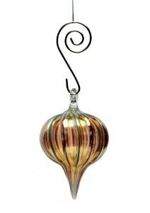 Ornament: Striped     flameworked glass    Jack Spivey