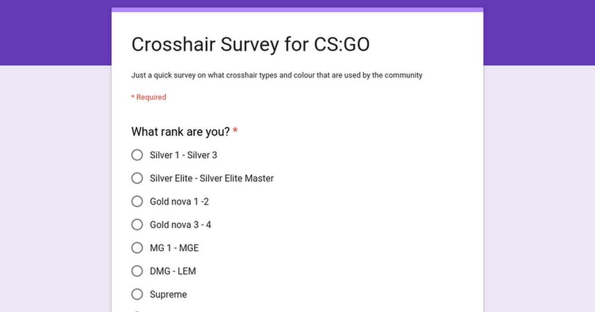 Survey About Crosshair! #games #globaloffensive #CSGO #counterstrike