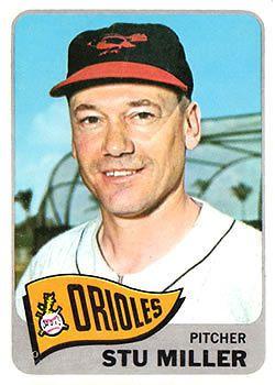 1965 Orioles Topps 499 Stu Miller Ex Mt Orioles Baltimore Orioles Baseball Cards