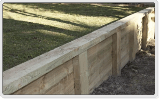 timber sleeper retaining wall stacked on flat concert pavers street appeal landscaping pinterest sleeper retaining wall retaining walls and