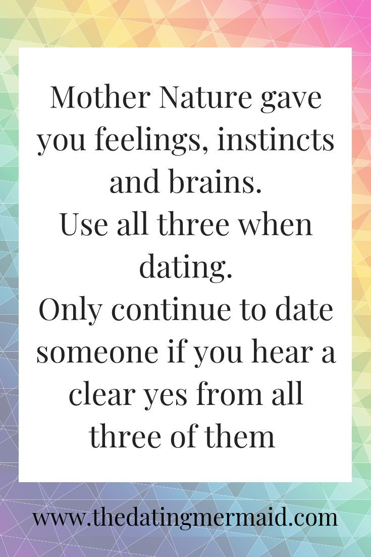 Always date wisely. Every dating decision that you make