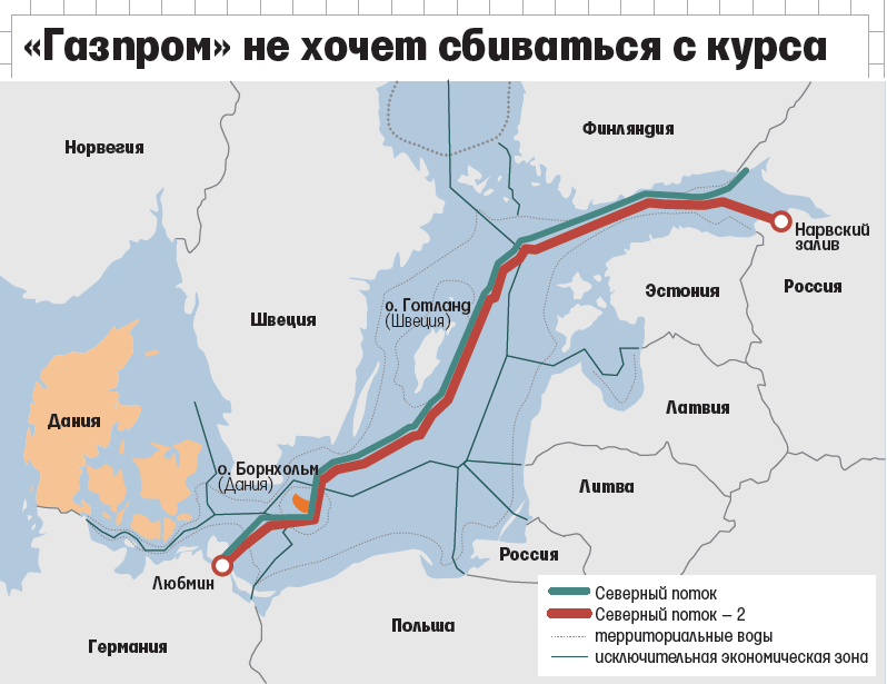 Nord Stream 2 Karte.Marshrut Severnogo Potoka 2 Nord Stream 2 I Territorialnye