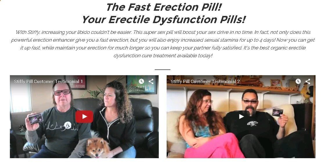 Stiffy The Fast Erection Pill Erectile Dysfunction Cure Treatment