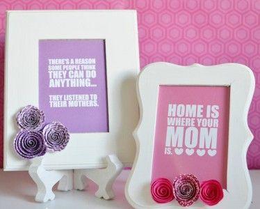 DIY Mother's Day Frames! - http://www.yourdailycrafts.com/diy-mothers-day-frames/