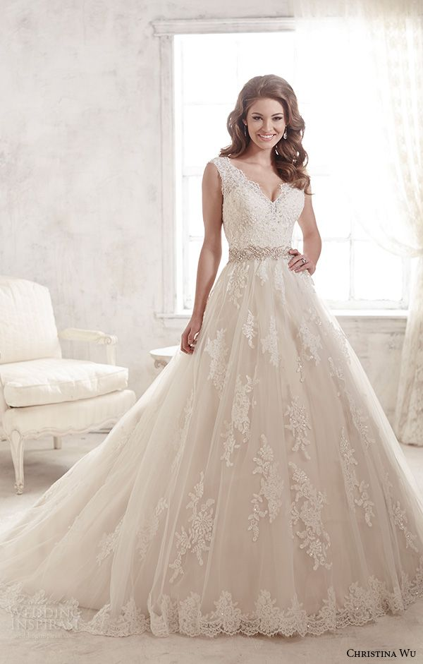 a line wedding dresses with straps. christina wu 2015 wedding dresses. a-line a line dresses with straps