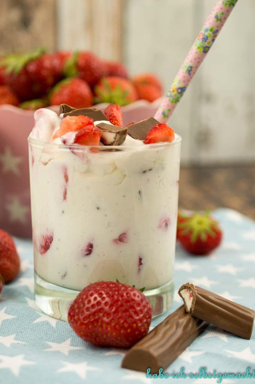 Erdbeer Yogurette Dessert Im Glas Rezept Schoko Dessert Dessert Schokolade Einfacher Nachtisch