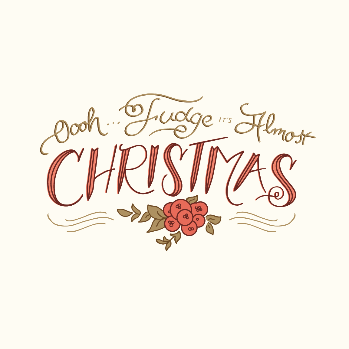 Oooh... Fudge It\'s Almost Christmas! on Behance | Holiday: Christmas ...