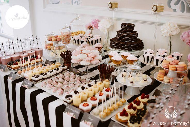 Glamour Wedding,Sweet table decoration / Wesele galmour,Słodki stół,Anioły Przyjęć