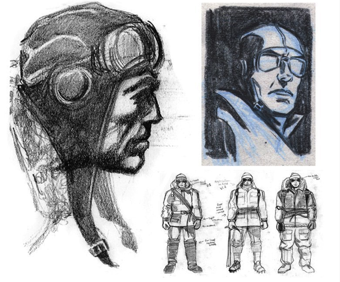 "Dieselpunk: concept art by Kevin Conran for the movie ""Sky Captain And The World Of Tomorrow"" 2004."
