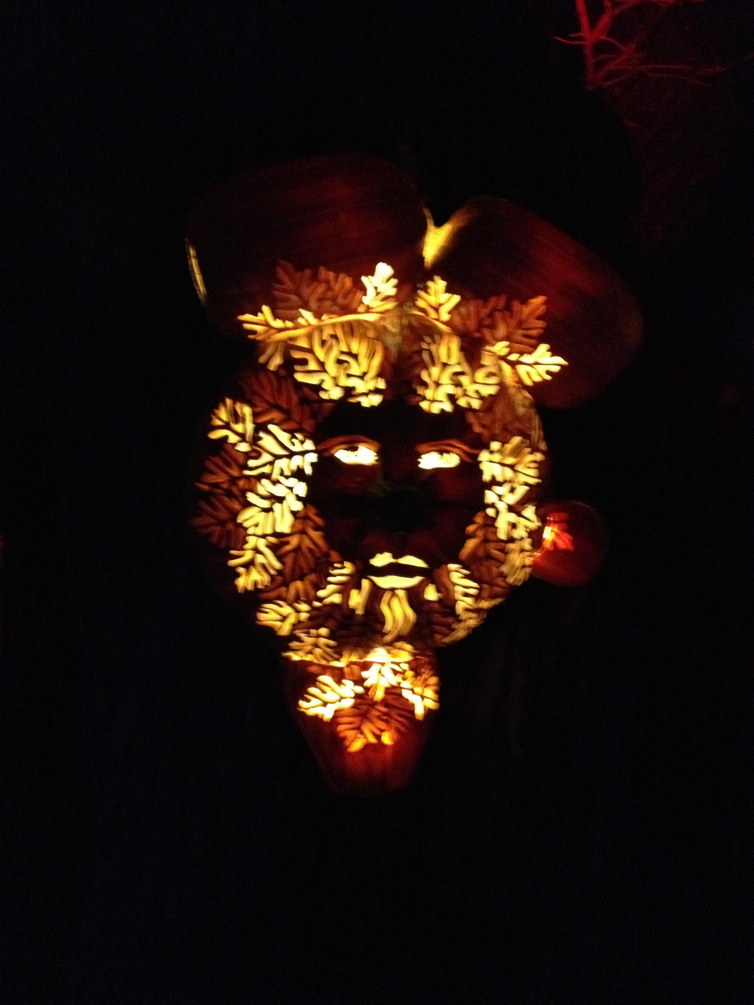 Night lights upper canada village - Amazing Work The Face Is Created From Carved Cast Pumpkins As Part Of Pumpkin Inferno