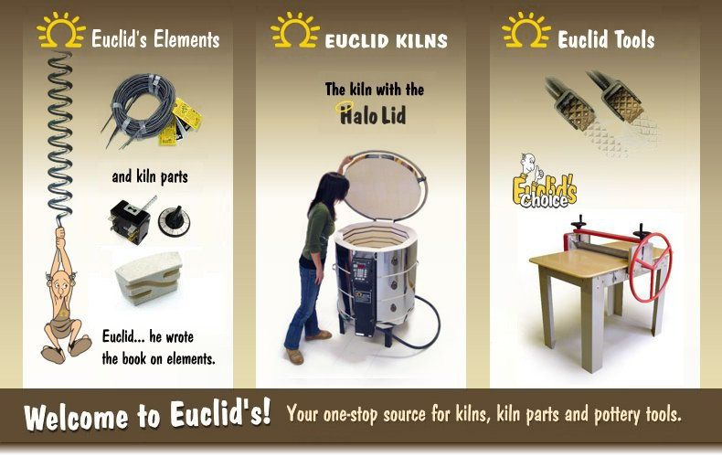 Welcome to Euclids! Your one stop shop for kilns, kilns