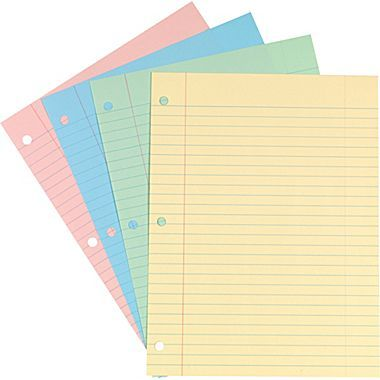 Staples Pastel Filler Paper, 8in x 10-1\/2in Home Management - printable check register