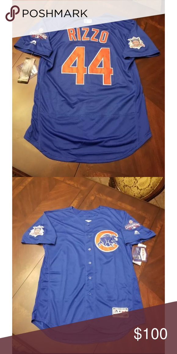 cheaper b2f35 bfcba Chicago Cubs Anthony Rizzo Authentic Jersey NWT Majestic ...