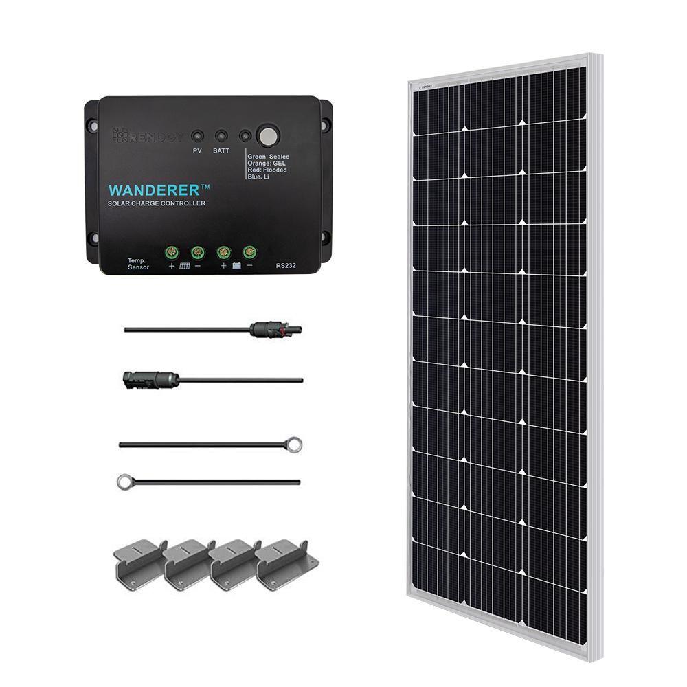 Renogy 100 Watt 12 Volt Monocrystalline Solar Starter Kit For Off Grid Solar System Off Grid Solar Solar Panel Kits Best Solar Panels