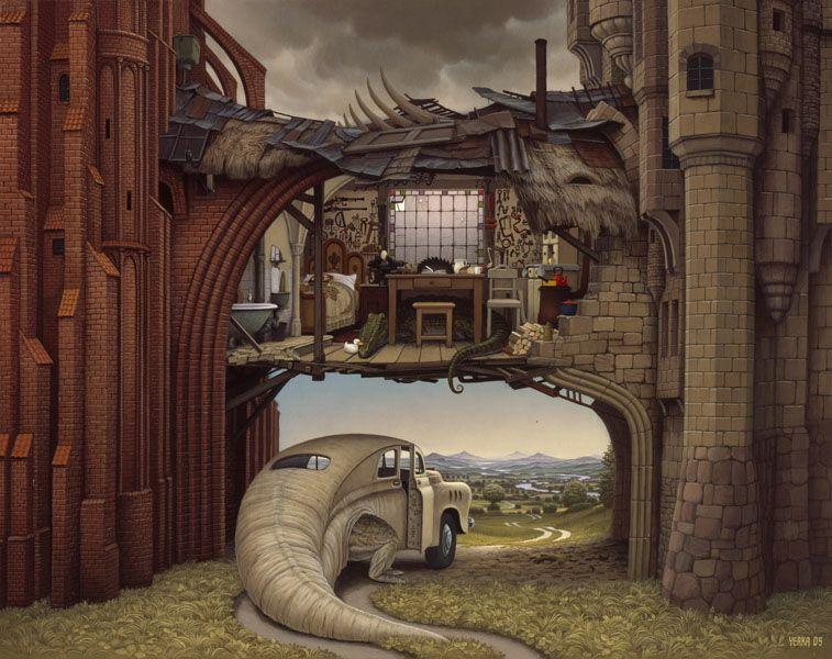 Surreal artwork by Jacek Yerka - Imgur