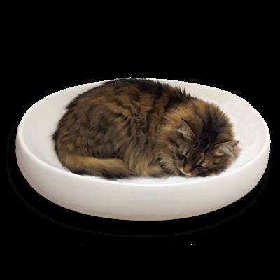 little cat design - cats contour ceramic cat bed