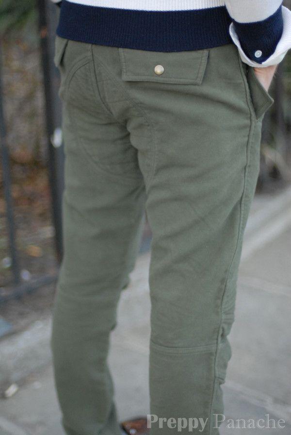 a7953dc3e77 Michael Bastian moto cross moleskin pants