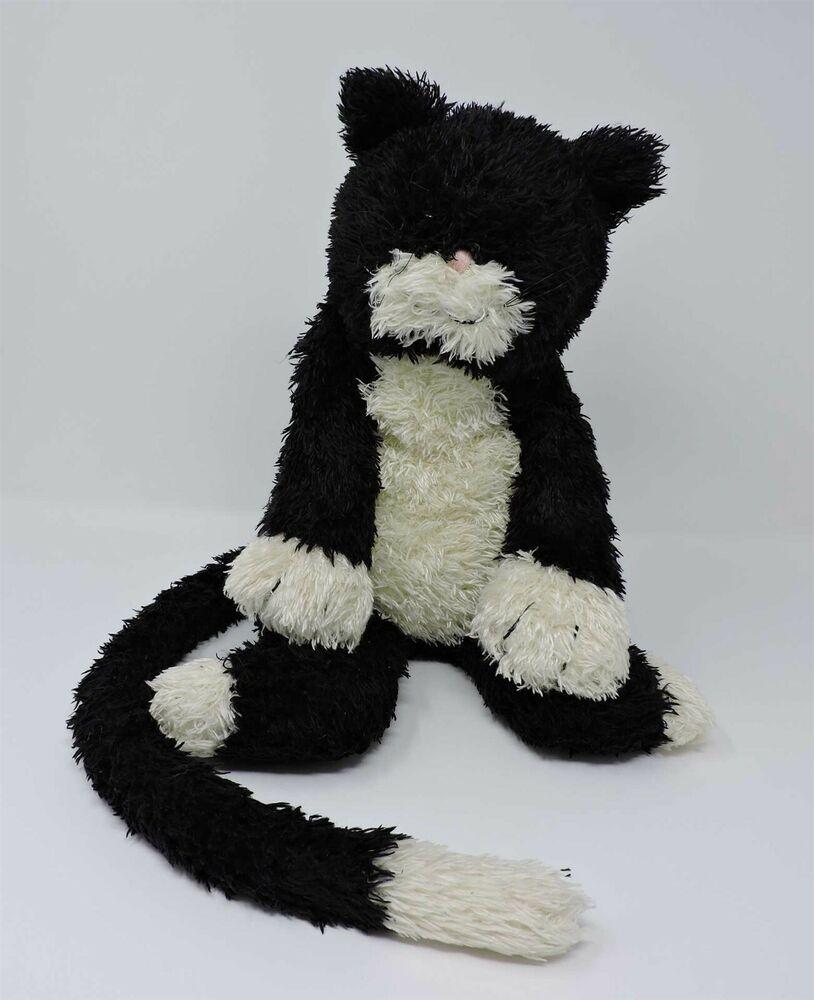 Jellycat Bunglie Cat Tuxedo Plush Black White Kitty 15 Soft Toy Stuffed Animal Jellycat Pet Toys Jellycat Animals