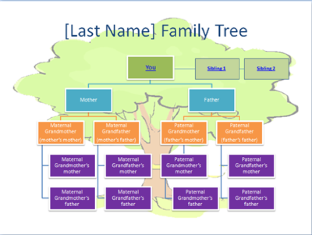 An Easy Guide To Creating A Family Tree In Powerpoint 2007 Family