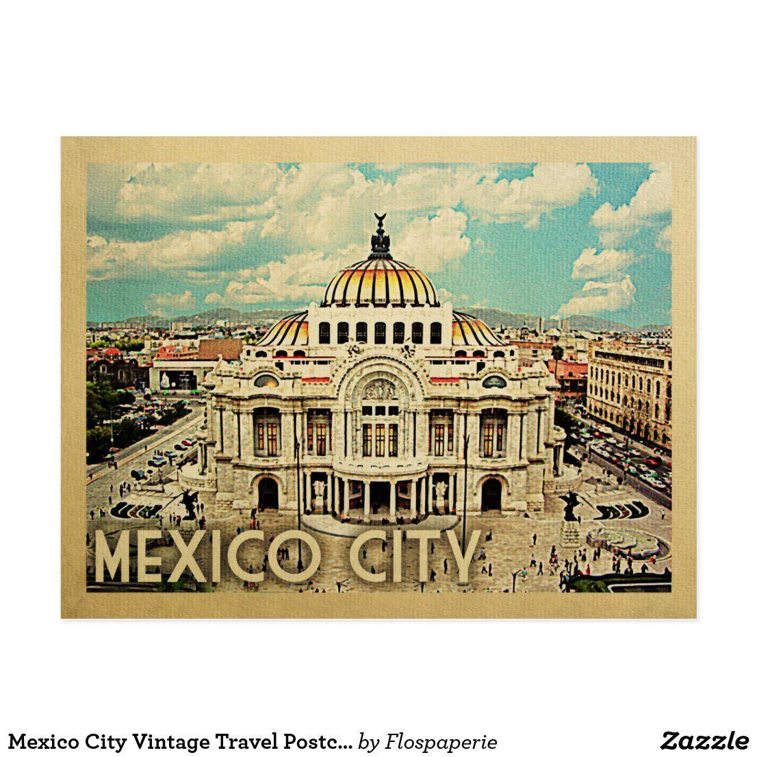Mexico City Vintage Travel Postcard Zazzle Com In 2020 Vintage Postcards Travel Travel Postcard Vintage Travel Posters