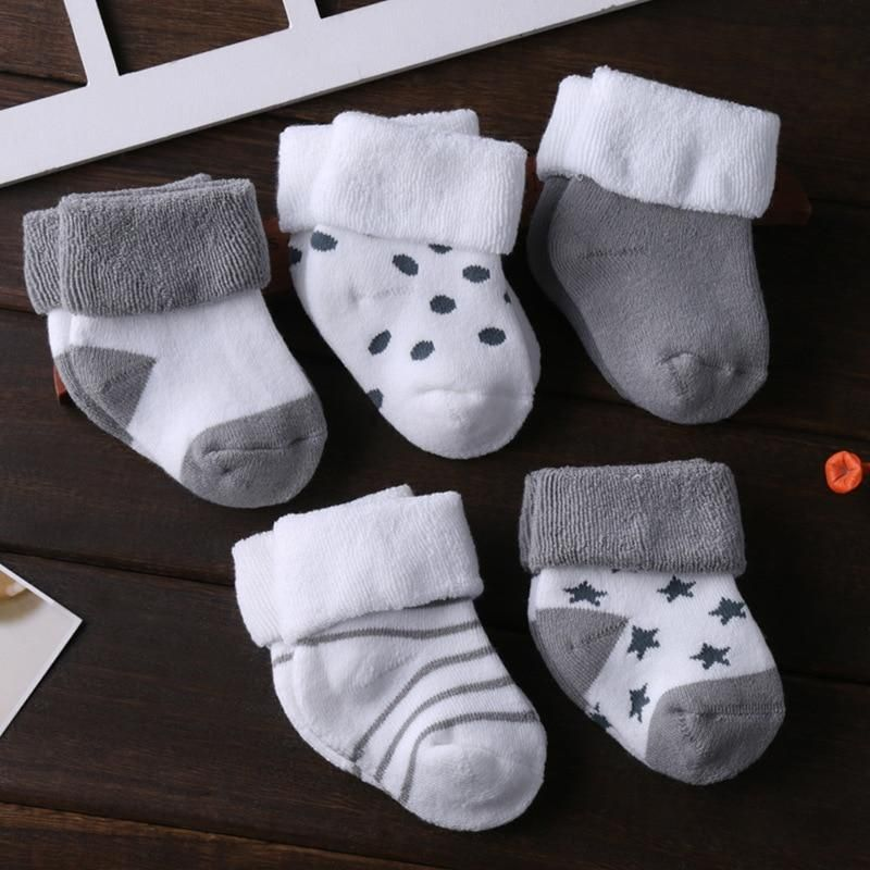 5 pairs Blue /& Grey Baby and Kid Socks