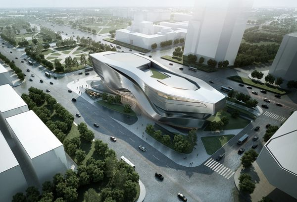 Superb Dalian Museum Competition Design Concept / 10 Design By 10 DESIGN , Via  Behance
