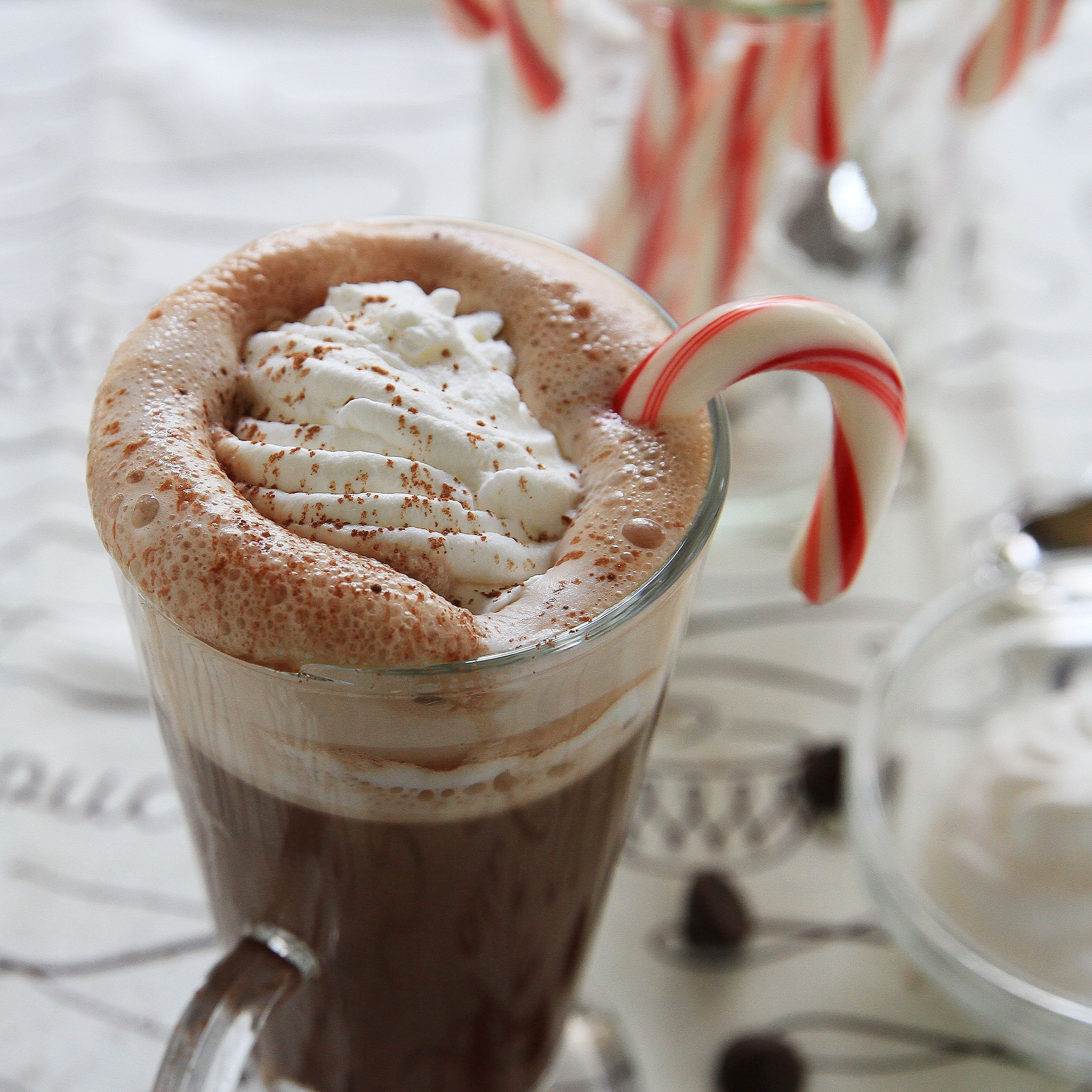 Enjoy this peppermint mocha on cozy winter nights or with