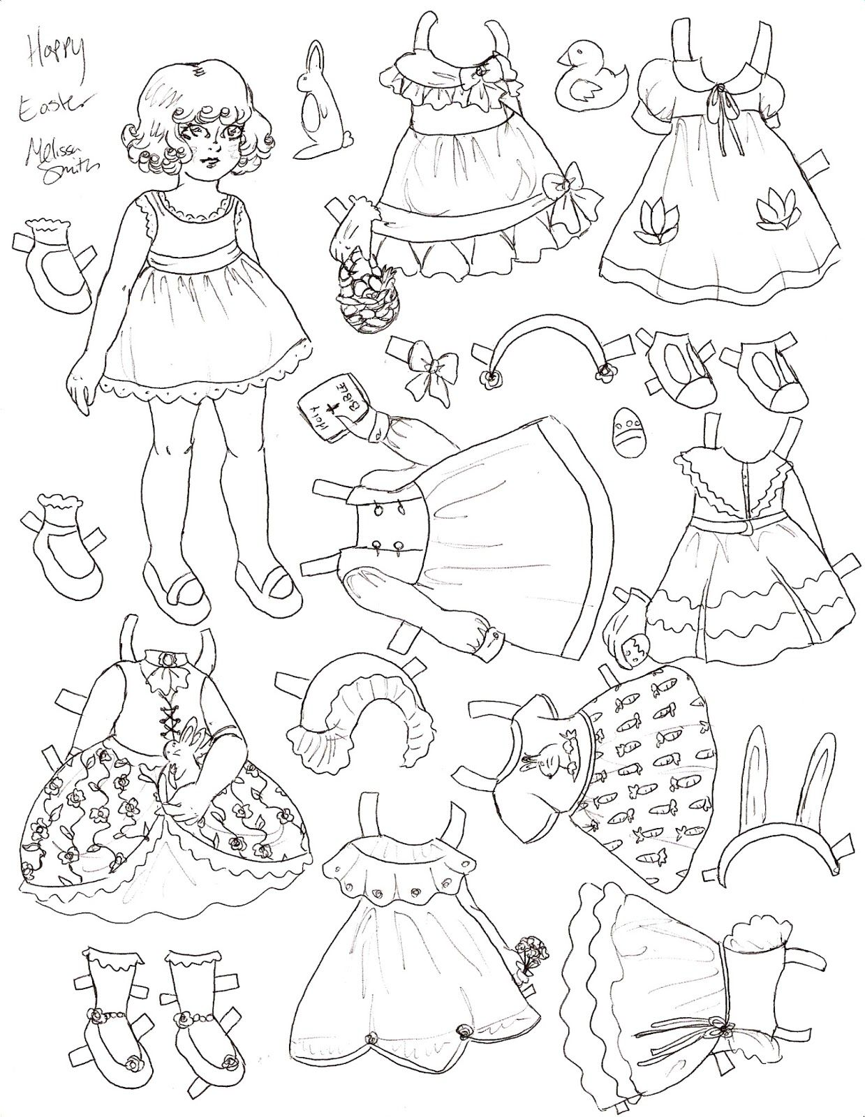 Black And White Princess Paper Dolls | Coloring Pages | Pinterest ...