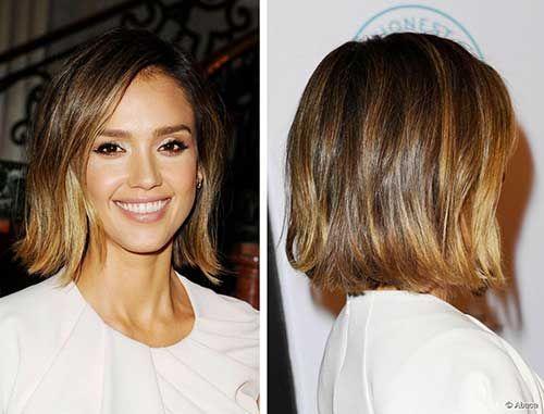 30 Best Jessica Alba Bob Hair Kurze Haarfarbe Balayage