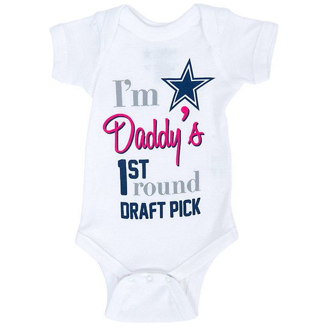 best cheap a71ef ce2b5 Dallas Cowboys Infant 1st Pick Bodysuit | gifts | Dallas ...