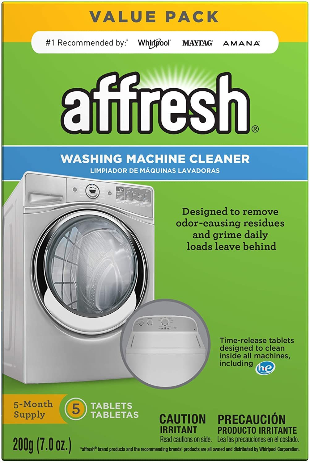 Affresh Washing Machine Cleaner, 5 count as low as $8.48 ...