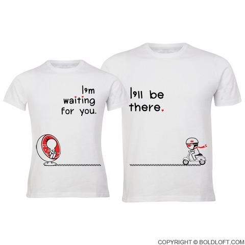 Couple Tshirts for Him and Her Heart Shape Puzzle Graphic Tees Short Sleeve Tops