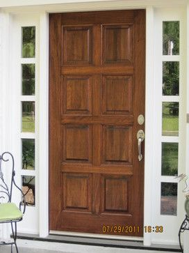 houzz exterior doors | Stained Mahogany Door - traditional ...