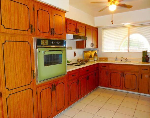 Vintage Original 1970 Avocado Green Oven Kitchen Cabinets