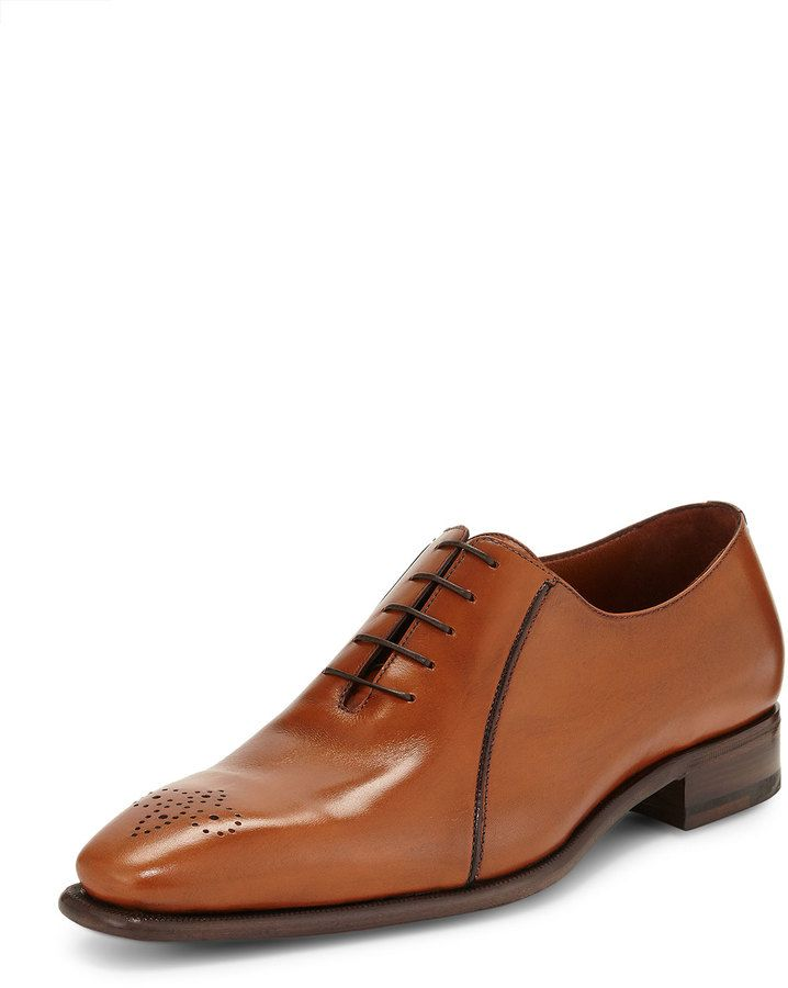 A.TESTONI Perforated Leather Derby Shoes BfIRT8iVzp