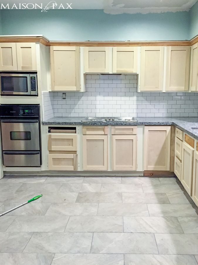 Refacing Kitchen Cabinets  Cabinet Makeover  Refacing