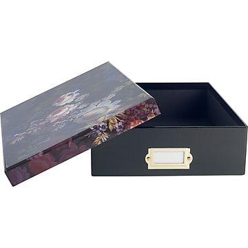 Cynthia Rowley Document Box Cosmic Black Floral Cynthia Rowley