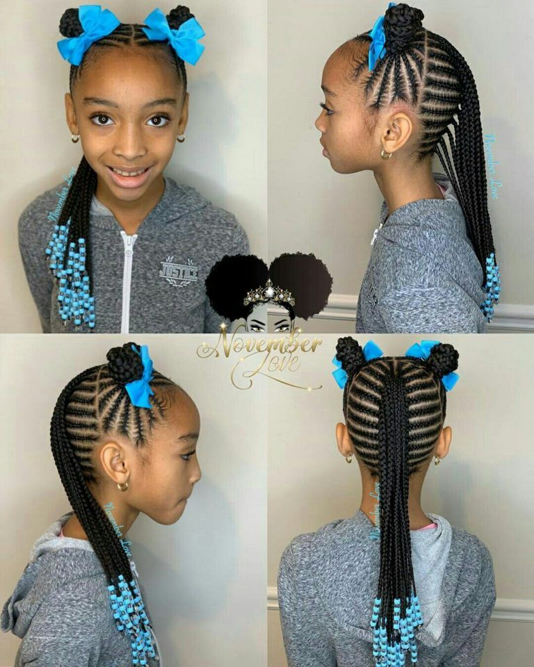 Braids For Kids 100 Back To School Braided Hairstyles For Kids In 2020 In 2020 Black Kids Braids Hairstyles Kids Braided Hairstyles Kids Braids With Beads