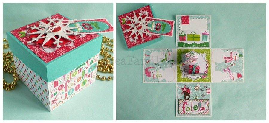 Christmas Explosion Box Scrapbooking Exploding Box Ideas