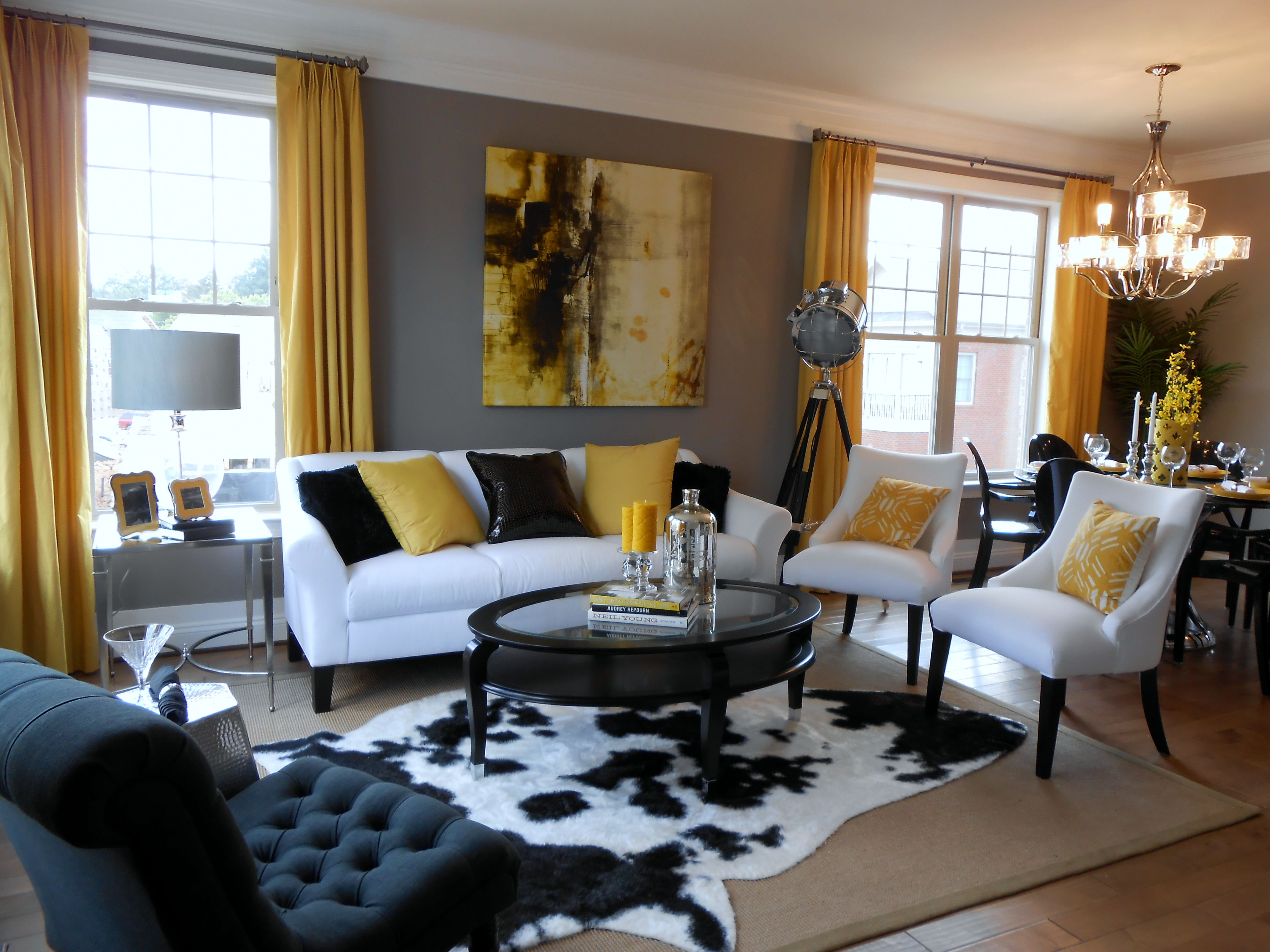 Design Trend Animal Instincts Model Home Furniture Clearance Yellow Walls Living Room Leopard Living Rooms Sitting Room Design Animal living room decor