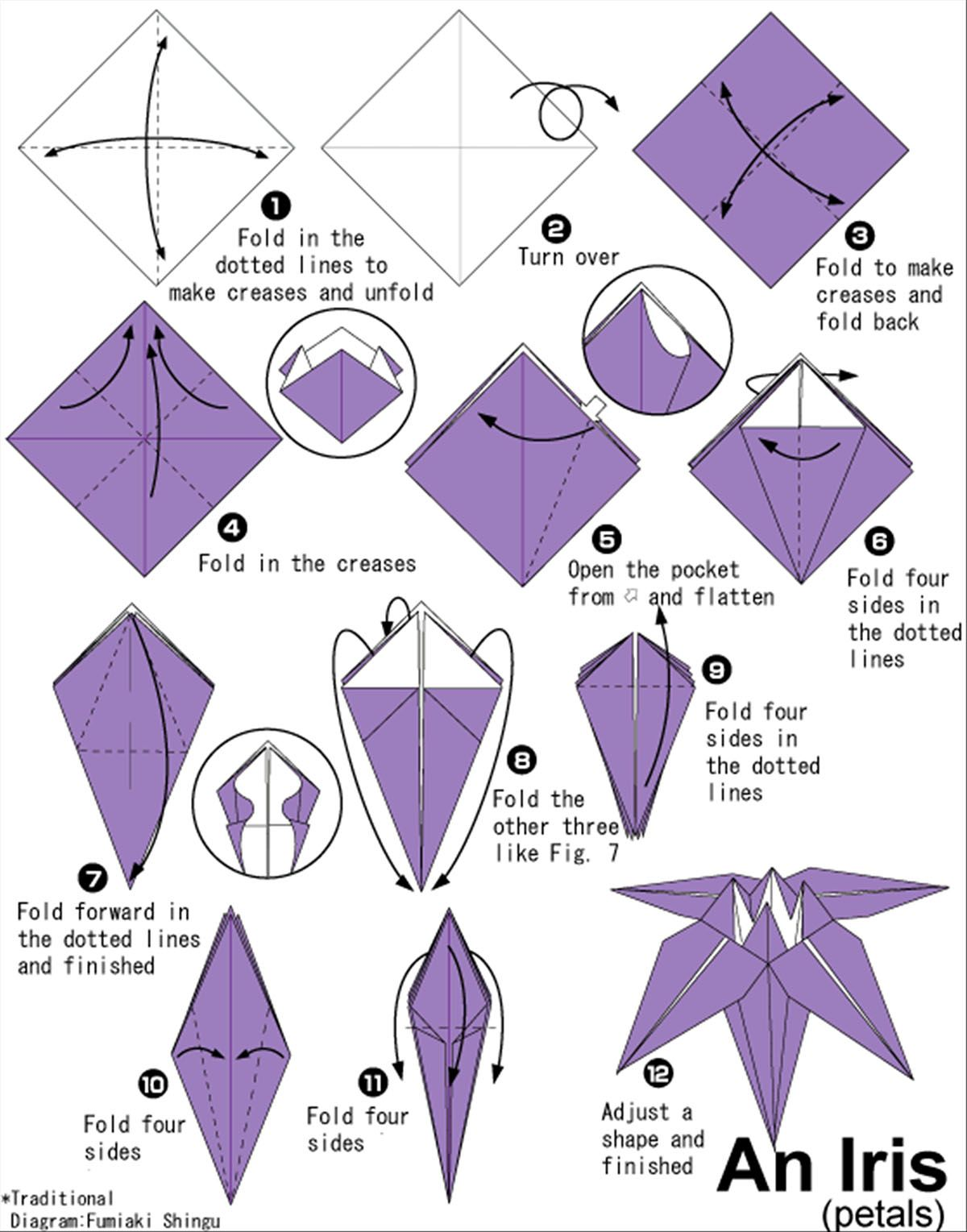 Origami Flower Instruction Diagram Iron Atom Fun With Let 39s Do This Flowers Pinterest